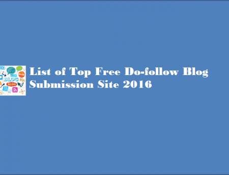 Free High PR Blog Submission Sites List 2018