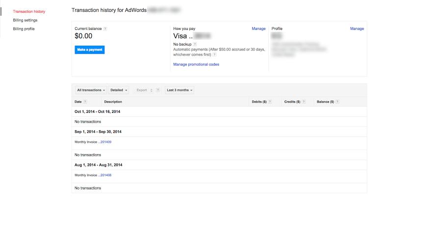 google adwords secure billing