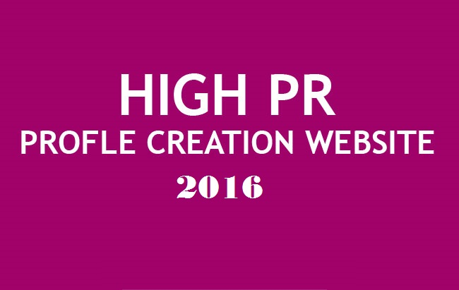 List of Profile creation websites 2016