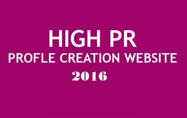 List of Profile creation websites 2016